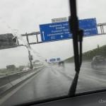 Berlin,Fahrt im Regen