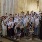 Singende Pilgerschar